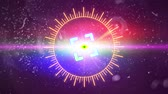 painel de instrumentos : Futuristic HUD Space Sight with Optical Glare. Stock Footage