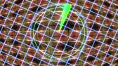 radial : HUD panel with a radar grid and a moving background. Motion graphics.