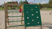 verão : Parts and details of the playground on the street. Stock Footage