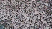 close up : Crushed stone. crushed stone of two colors. gravel. Close-up
