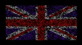union : British Union Jack flag created by animated scribble lines.