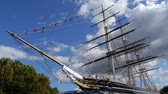такелаж : Cutty Sark sailing ship at Greenwich, London.