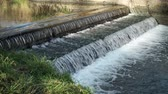 hydrology : Weir on the Rea in Canon Hill park, Birmingham.