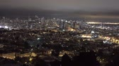 Downtown San Francisco la nuit. Haute point de vue.