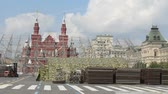 caqui : Construction Staging at Red Square, Moscow, Russia