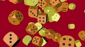 çarpmak : Yellow and Orange Color Dice Collided Stok Video