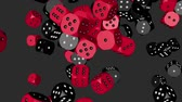 Red and Black Color Dice Collided
