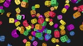 Rainbow Color Dice Collided Стоковые видеозаписи