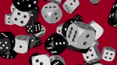 Black and White Color Dice Collided