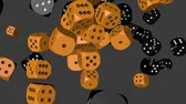 Black and Orange Dice Collided