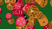 многоцветный : Red and Orange Color Dice Collided