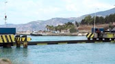 movable : Corinthian submersible bridge, Corinth Canal, Greece Stock Footage