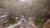 otoÑal : Handheld shot of a river and a small waterfall in Polilimnio - Greece