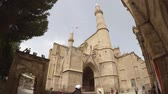 karma : Stable handheld shot of Selimiye Mosque at Nicosia in Cyprus