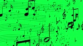 půltón : Animated background with musical notes, Music notes flowing, flying stream hromakey Dostupné videozáznamy
