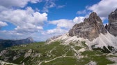 tre cime di lavaredo : National Nature Park Tre Cime In the Dolomites Alps. Beautiful nature of Italy.