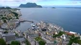 art noveau : Aksla at the city of Alesund, Norway. It is a sea port, and is noted for its concentration of Art Nouveau architecture.