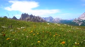 alto : National Nature Park Tre Cime In the Dolomites Alps. Beautiful nature of Italy.
