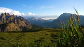 dolomites : National Nature Park Tre Cime In the Dolomites Alps. Beautiful nature of Italy.