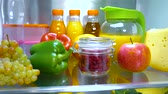 chladič : Open refrigerator filled with food. Healthy food. Dostupné videozáznamy
