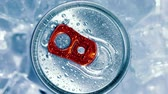 buzlu : Aluminum Soda Tin Can Lid Cover of soft drink on ice goes around the circle.
