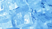 refrescar : Ice cubes closeup, abstract background.