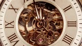ucieczka : Antique clock dial close-up. Vintage pocket watch.
