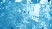 Ice cubes closeup, abstract background.