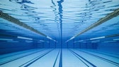 пловец : Olympic Swimming pool underwater background.