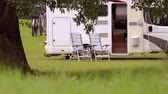 rodiny : Family vacation travel RV, holiday trip in motorhome, Caravan car Vacation. Beautiful Nature Norway natural landscape.
