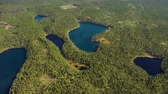 핀란드 : Aerial View of the Lake and Forest in Finland. Beautiful nature of Finland.
