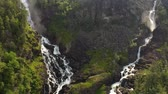 jezera : Latefossen is one of the most visited waterfalls in Norway and is located near Skare and Odda in the region Hordaland, Norway. Consists of two separate streams flowing down from the lake Lotevatnet.