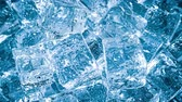 solide : Ice cubes closeup, abstract background.