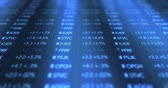 fechado : Futuristic Digital Blue Stock Market Numbers Stock Footage