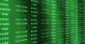 street wall : Futuristischer Digital Grün Stock Market Numbers Stock Footage