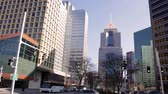 pittsburgh : PITTSBURGH - Circa February 2017 -  Traffic in downtown pittsburgh on Sunny Day Stock Footage