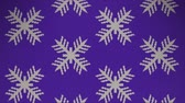 Kinitted Snowflake Animation Background. High-Quality 4K, 30fps Stok Video
