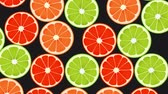 Seamless Colorful Oranges, Limes, Grapefruits Background. High-Quality Animation. 4K, 60fps
