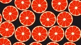 Seamless Grapefruits Colorful Background. High-Quality Animation. 4K, 60fps Stok Video