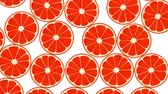 Seamless Colorful Grapefruits Background. High-Quality Animation. 4K, 60fps Dostupné videozáznamy