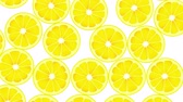 Seamless Colorful Lemons Background. High-Quality Animation. 4K, 60fps Stok Video
