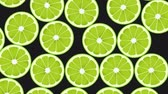 Seamless Colorful Limes Background. High-Quality Animation. 4K, 60fps