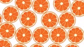 Seamless Colorful Oranges, Mandarines Background. High-Quality Animation. 4K, 60fps