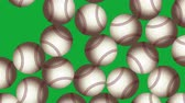 Baseball Balls On Background. Ideal For Your Sport Related Projects. 4K, 60fps Stok Video