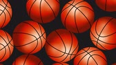 versenyképes : Basketball Balls On Background. Ideal For Your Sport Related Projects. 4K, 60fps