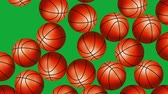 Basketball Balls On Background. Ideal For Your Sport Related Projects. 4K, 60fps