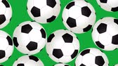 compétitif : Football Balls On Background. Ideal For Your Sport Related Projects. 4K, 60fps