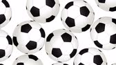 versenyképes : Football Balls On Background. Ideal For Your Sport Related Projects. 4K, 60fps