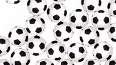 Football Balls On Background. Ideal For Your Sport Related Projects. 4K, 60fps