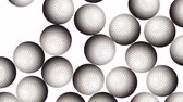 Golf Balls On Background. Ideal For Your Sport Related Projects. 4K, 60fps